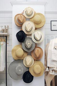 hats on display club monaco / sfgirlbybay