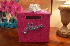 Glitter Gift Box www.idealpartydecorators.com