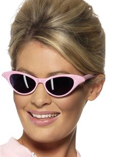 From Ladies Flyaway Style Rock & Roll Pink Sunglasses Grease Womens Fancy Dress Glasses Pink Lady, Fancy Dress Accessories, Costume Accessories, Pink Ladies Fancy Dress, Pink Sunglasses, Sunglasses Women, Rock And Roll Costume, Fancy Dress Glasses, Grease Party
