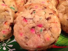 Chocolate Chip and Sprinkle Cookies.