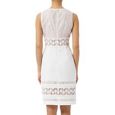 Buy Adrianna Papell Stretch Crepe Lace Dress,  Ivory Online at johnlewis.com