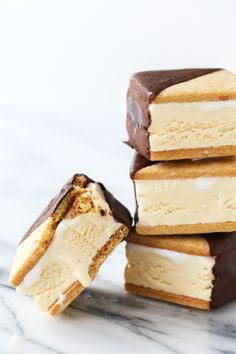 Chocolate-Dipped S'Mores Ice Cream Sandwiches, a perfect mess of a dessert.