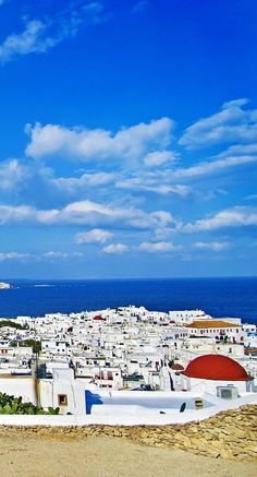 Mykonos, Greece | White-washed buildings. Cobalt-blue shores. Golden cliffs. It's the colors that first enamor you when you set eyes on Mykonos. But don't take our word for it. Cruise with Royal Caribbean to Mykonos, Greece and see the beauty for yourself.