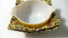 Hot Autumn Sunflowers Microwave Bowl Potholder Set of 2 #handmade #etsyretwt
