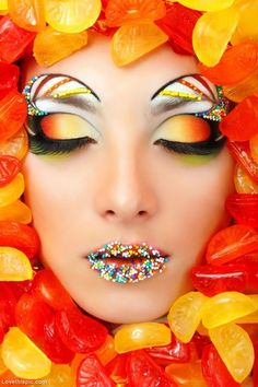 Candy Face photography hair lips candy face model strange