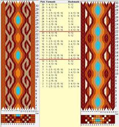 Two opposite threadings, same movements . 16 tarjetas, 5 / 6 colores, repite cada 10 movimientos // sed_634 & sed_634a diseñado en GTT༺❁