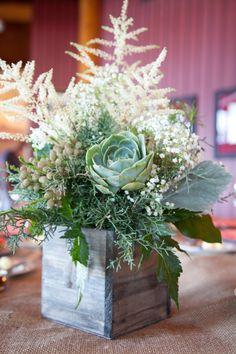 lavender blue succulent Wedding Inspiration - Style Me Pretty