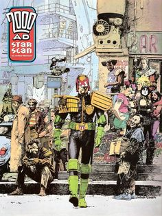 Judge Dredd by Arthur Ranson Comic Book Artists, Comic Artist, Comic Books Art, Judge Dread, Dredd Comic, Abc Warriors, 2000ad Comic, Arte Sci Fi, Western Comics