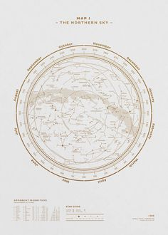 Studio Stellavie - The Stellar Map Poster Made of Constellations – The northern sky