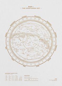 The Stellar Map Poster Made of Constellations – Fubiz Media