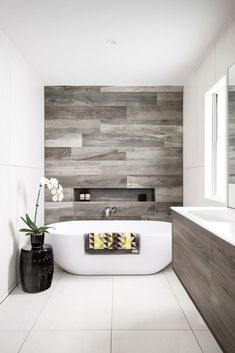 15 Space Saving Tips for Modern Small Bathroom Interior Decorating Colors Interior Modern Bathroom Design Ideas Better Homes Gardens mo. Bathroom Renos, Laundry In Bathroom, Bathroom Wall, Washroom, Bathroom Cabinets, Bathroom Tiling, White Bathroom, Tile For Small Bathroom, Bathroom Lighting