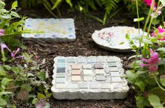 Preserve summer memories with easy-to-make garden stepping stones.