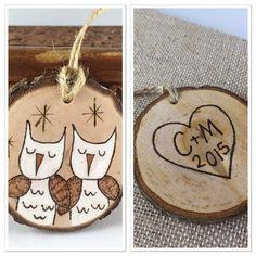 Personalized wood Christmas ornament owl ornament door MalamiStudio