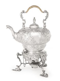 A George II silver kettle on lampstand, Thomas Whipham I, London, 1745 - Sotheby's