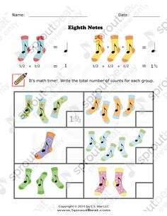 Music Worksheets – Eighth Notes