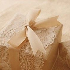 Lace, kraft paper, and bow - just lovely!