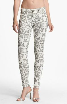 Paige Denim Verdugo Ultra Skinny Jeans (Butterfly Print) available at #Nordstrom