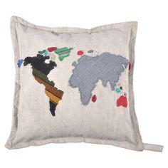 World Map Pillow - How Cool!