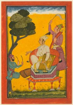 Vivaca Ragaputra, a Leaf from Ragamala Series, c. 1700-1720s India, Pahari Hills, Bilaspur school, 18th century | Cleveland Museum of Art