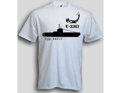 T-Shirt U-2367  T-Shirt U-Boot 2367 Typ XXIII. Das U-2367 T-Shirt ist in den Größen S-3XL erhältlich. Auf dem T-Shirt ist das berühmte deutsche U-Boot U-2367 der Klasse XXIII abgebildet. / mehr Infos auf: www.Guntia-Militaria-Shop.de