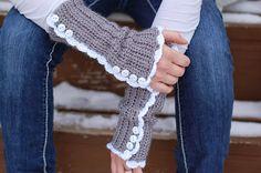 Free crochet pattern vintage arm warmers