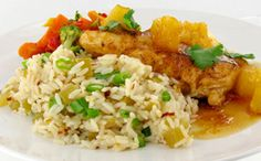 Apricot Pineapple Chicken w Sweet & Spicy Rice  #unclebensrecipes