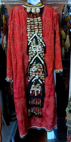 Outrageous OOAK Uzbek Decorated Chapan Robe/Jacket.