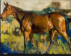 A painting by Alfred Munnings. He knew his horses--that's for sure.