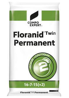 Floranid Twin Permanent Σύνθεση: 16-7-15 +2+ΙΧΝ  16% ολικό άζωτο (2,1% νιτρικό 7,9% αμμωνιακό, 3,6% ISODUR®, 2,4% CROTODUR® ), 7% P2O5, 15% K2O, 2% MgO, 8% S.  ΙΧΝΟΣΤΟΙΧΕΙΑ: 0,02% B, 0,01% Cu, 0,5% Fe, 0,1% Mn, 0,01% Zn  κοκκοποίηση 90% : 0,7 - 2,8 mm  Ισορροπημένο λίπασμα ήπιας σύνθεσης, ιδανικό για όλες τις εποχές και για κάθε καλλιέργεια όπως χλοοτάπητες, κηπευτικά, άνθη, δέντρα, θάμνοι και φυτώρια. Κατάλληλο για βασική και επιφανειακή λίπανση με διάρκεια δράσης του αζώτου έως και 4…