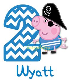 Peppa Pig George digital download iron on by ImaginationDesignd