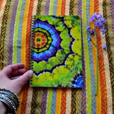 Tie Dye Journal Notebook por Wildflowerdyes en Etsy