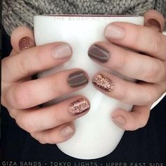 I just ordered a set of Giza Sands (neutral) for myself and one to share! Let me… I just ordered a set of Giza Sands (neutral) for myself and one to share! Let me…,Nageldesign. Fancy Nails, Cute Nails, Pretty Nails, Cute Fall Nails, Pedicure Colors, Manicure And Pedicure, Fall Manicure, Shellac Nails Fall, Fall Toe Nails