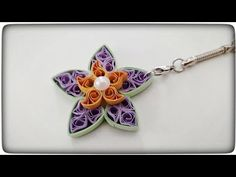 how to make keychains | quilling keychain tutorial - YouTube Quilling Keychains, How To Make Keychains, Belly Button Rings, Brooch, Youtube, Jewelry, Jewlery, Jewerly, Brooches