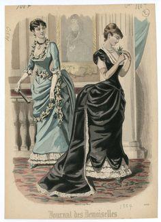 Historical Art, Historical Costume, Historical Clothing, 1870s Fashion, Edwardian Fashion, Vintage Fashion, Belle Epoque, Victorian Gown, 19th Century Fashion