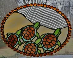 Custom Made Stained Glass Art by SingularArt on Etsy sea turtles hatching Making Stained Glass, Custom Stained Glass, Stained Glass Designs, Stained Glass Panels, Stained Glass Projects, Stained Glass Patterns, Stained Glass Art, Mosaic Glass, Fused Glass