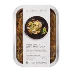 Aubergine & Lentil Moussaka 400g Shopping List Grocery, Milk And Eggs, Moussaka, White Sauce, Cooking Ingredients, Food Preparation, Lentils, Menu, Vegetarian