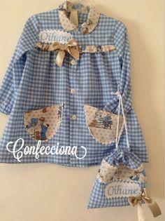 Blue Rooms, Dresses Kids Girl, Baby Dress, Kids Girls, Blouse, Kids Fashion, Couture, Children, Pattern