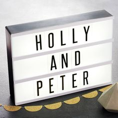 Retro Style Light Box Cinema Sign by Daughters Of The Revolution, the perfect gift for Explore more unique gifts in our curated marketplace. Cinema Sign, Hollywood Mirror, Battery Operated Lights, All Of The Lights, Presents For Men, Black Letter, Letters And Numbers, All The Colors, Home Accessories