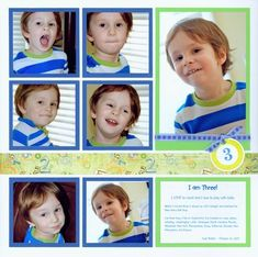 So Cute! Love this layout for multiple portrait shots. I like the border for adding my favorite pattern paper or a title.