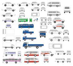 Vehicle VI full AI vector template