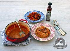 Kitty O'Byrnes Sauce baked in & Kitty, Chicken, Cream, Baking, Food, Little Kitty, Creme Caramel, Kitty Cats, Bakken