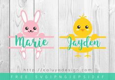 Download Easter Monogram SVG cut file that are compatible with Cricut, Cameoo Silhouette and other Major Cutting Machines. Perfect for Easter DIY Project!