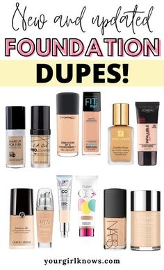 Mac Foundation Dupes, Nars Sheer Glow Foundation, No Foundation Makeup, Full Coverage Drugstore Foundation, Skincare Dupes, Drugstore Makeup Dupes, Nars Concealer Dupe, Mac Dupes, Best Makeup Products