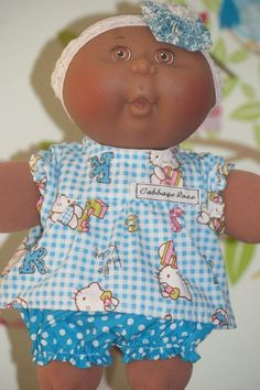 SWEET OUTFIT SUITABLE FOR CABBAGE PATCH DOLL 12 INCH HIGH
