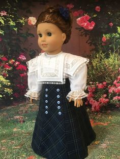 1800's Heirloom Blouse and Skirt fits American Girl Dolls