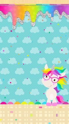 Check out this awesome collection of Kawaii Unicorn wallpapers, with 57 Kawaii Unicorn wallpaper pictures for your desktop, phone or tablet. Iphone Wallpaper Unicorn, Unicornios Wallpaper, Unicorn Backgrounds, Rainbow Wallpaper, Cute Backgrounds, Cute Wallpapers, Wallpaper Backgrounds, Unicorn Art, Cute Unicorn