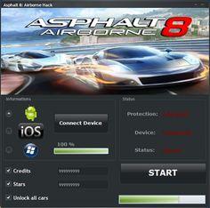 Download Asphalt 8 Airborne Hack at http://tooldownload.net/asphalt-8-airborne-hack-android-ios/