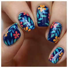 "1,918 Me gusta, 28 comentarios - @lieve91 en Instagram: ""New tropical nails inspired by a photo I found on Pinterest (if anybody knows the original nail…"""