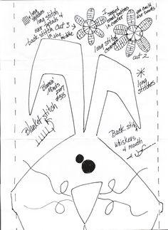 trilho de  coelho 4 - molde 2
