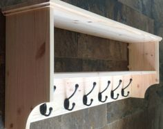 Wide hat & coat rack with shelf. Wall mounted by OriginalCrate